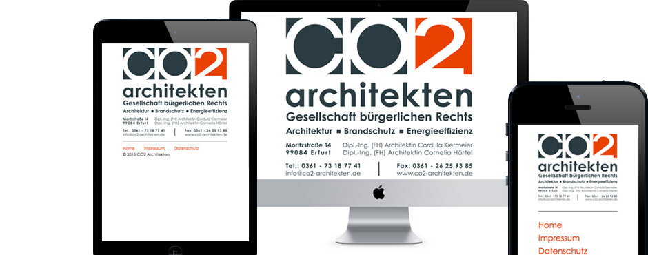 Bild zur Website von CO2-Architekten – Web
